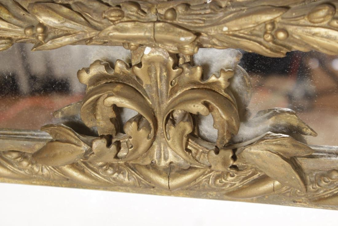Large 19th C Giltwood Mirror - 5