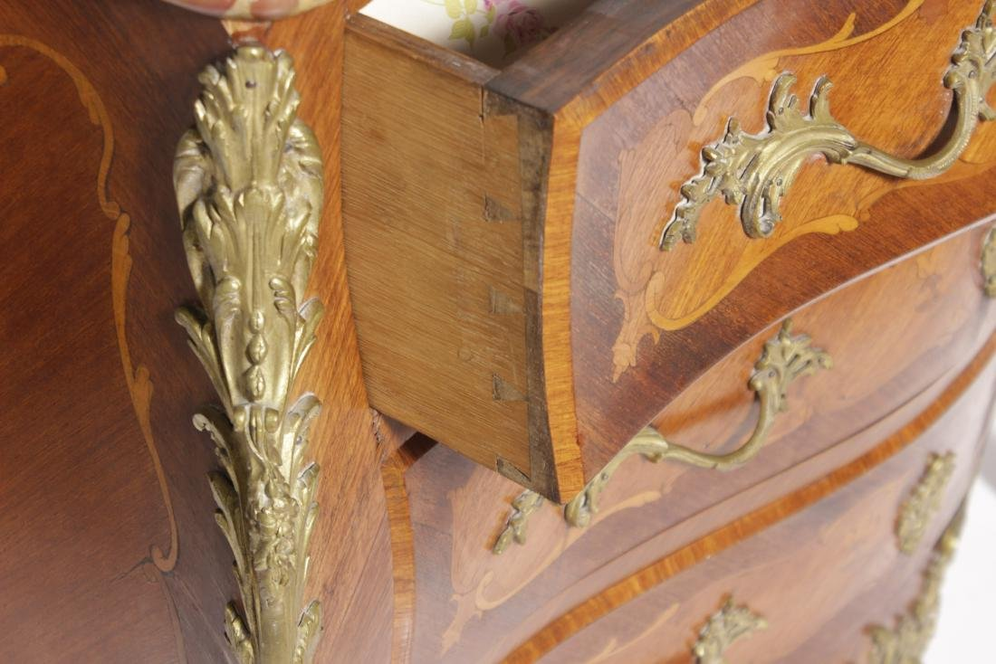 Louis XV Style Commode w/ Bronze Mounts - 8