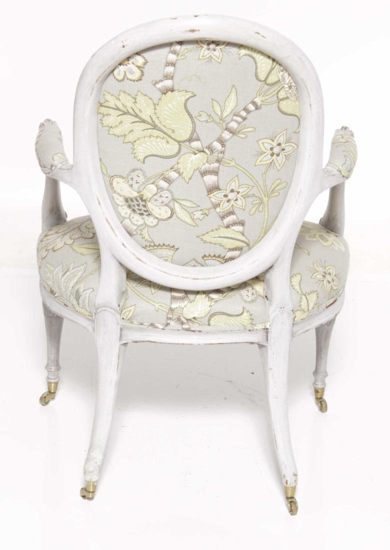 19th C English Painted Armchair - 7