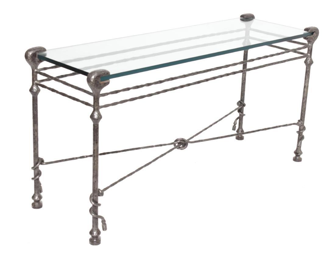 Giacometti Style Bronze Sofa Table
