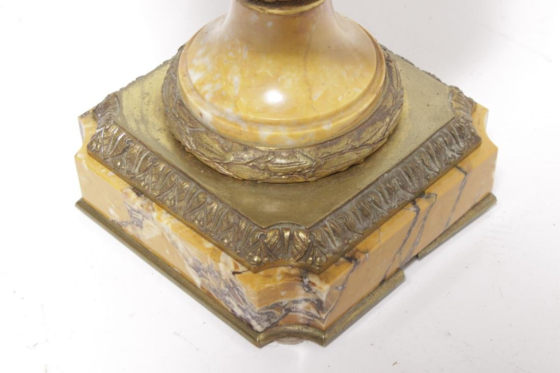 Bronze Mounted Marble Lamp - 3