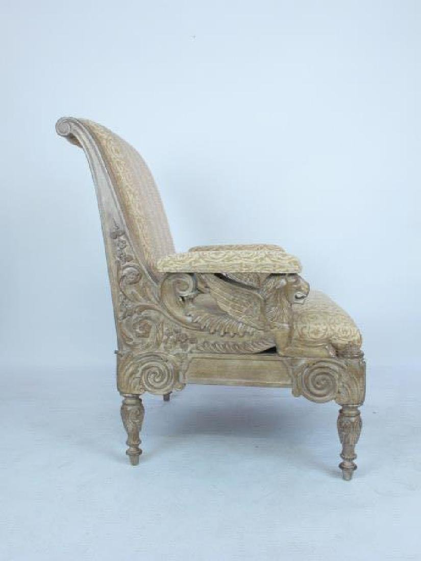 Pair Carved Arm Chairs - 10