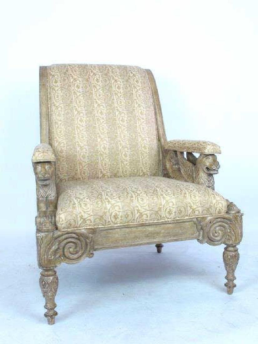 Pair Carved Arm Chairs - 7