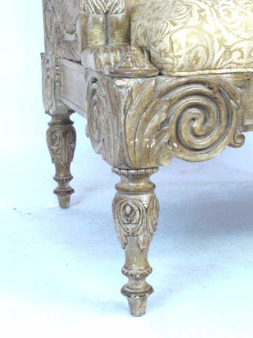 Pair Carved Arm Chairs - 8