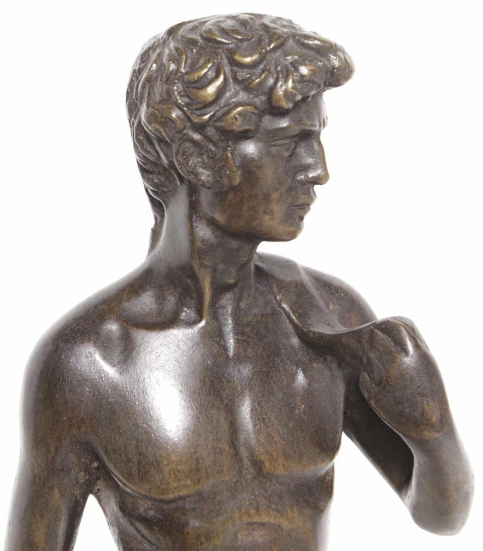 Michelangelo's David, Grand Tour Bronze - 2