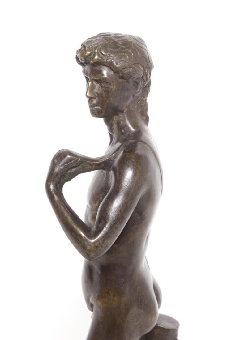 Michelangelo's David, Grand Tour Bronze - 5
