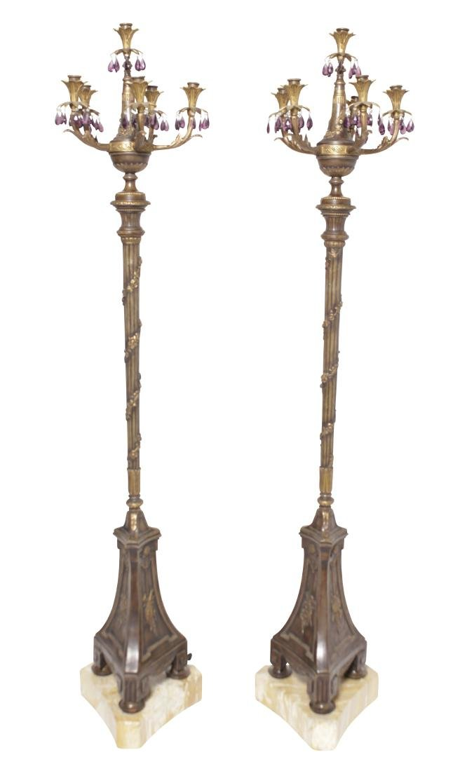 Pair of Neoclassical Torchieres
