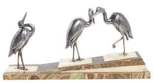 Art Deco Bird Sculpture on Marble