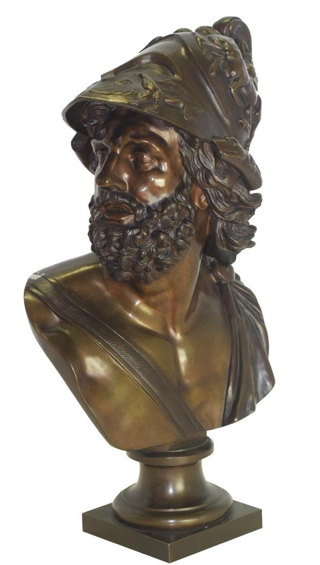 19th C Bronze Bust of Ajax