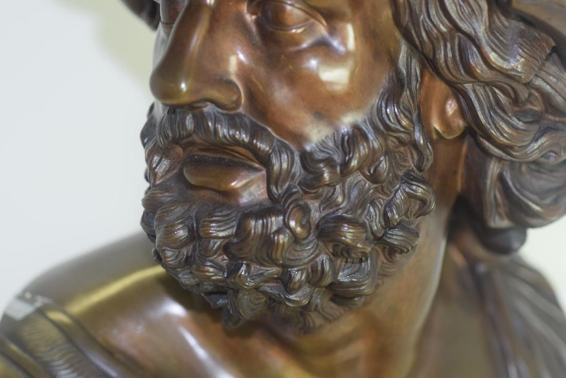 19th C Bronze Bust of Ajax - 2