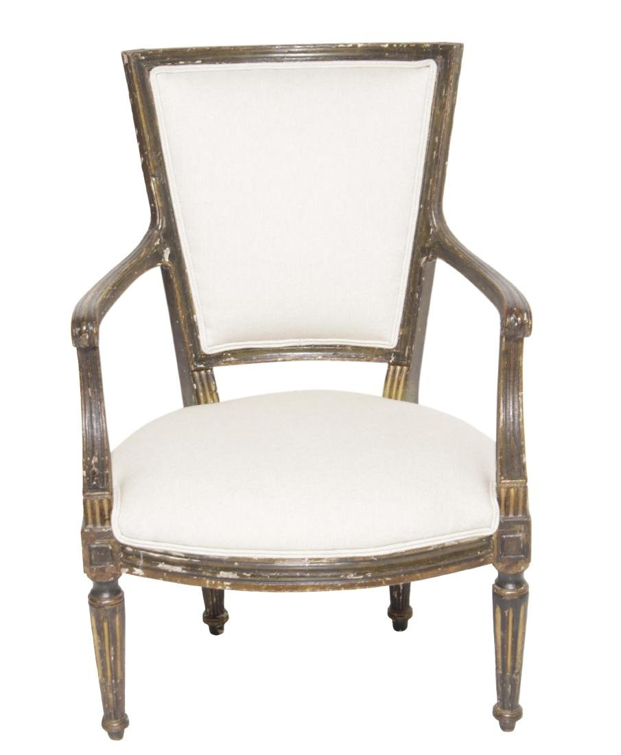 18th C Italian Painted Fauteuil