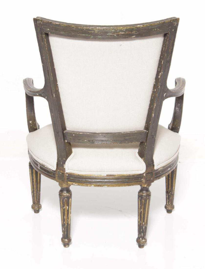 18th C Italian Painted Fauteuil - 5