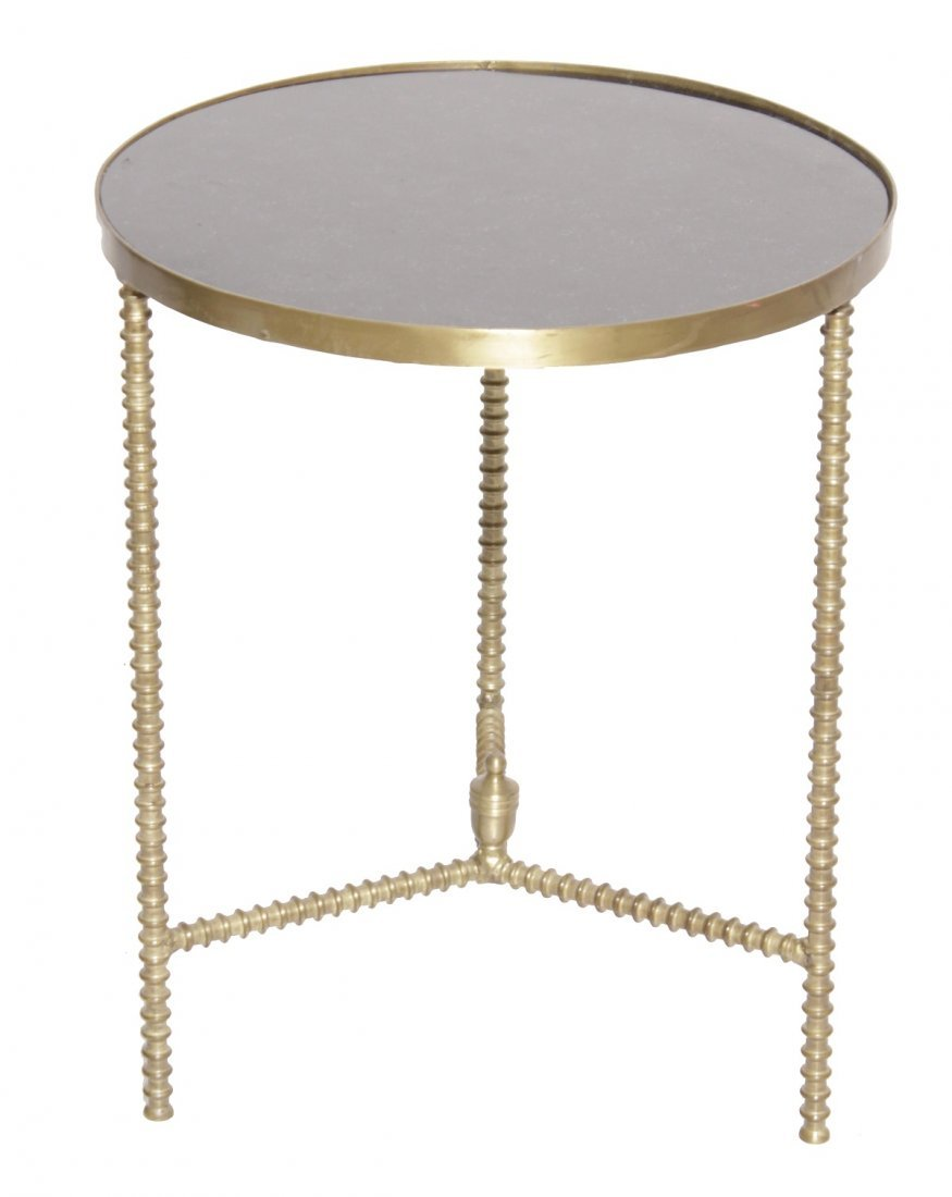 Mid C Brass Side Table