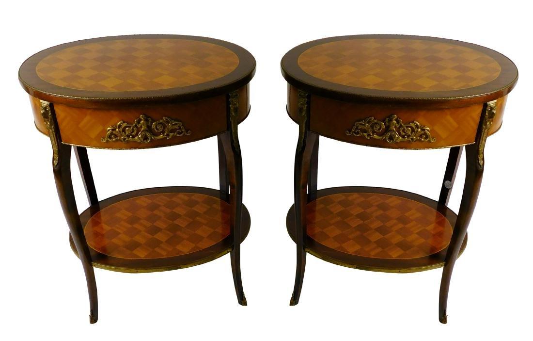 Pair Louis XVI Style Center Tables
