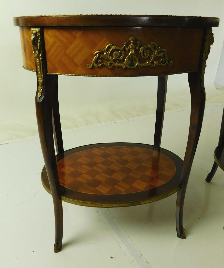 Pair Louis XVI Style Center Tables - 2