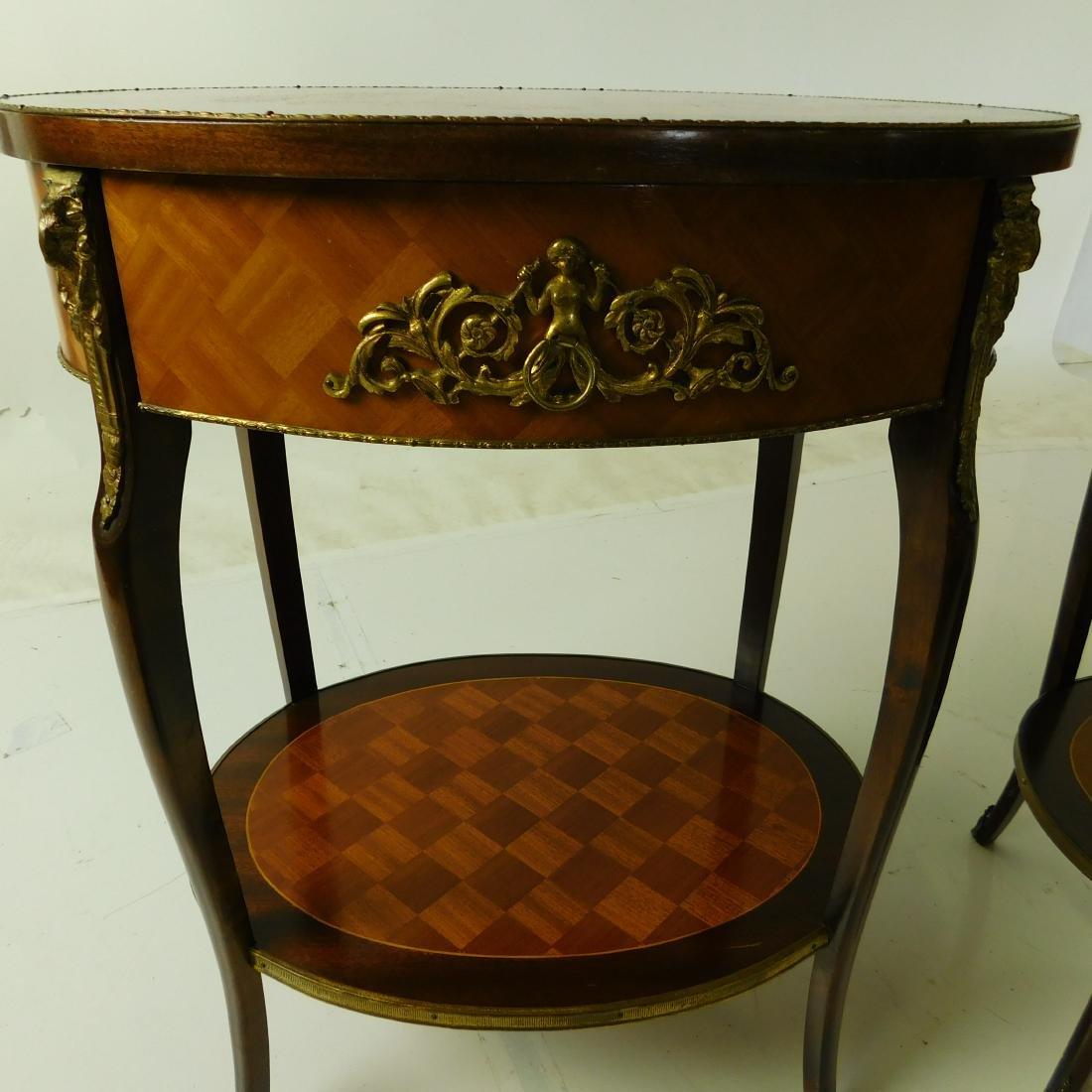 Pair Louis XVI Style Center Tables - 3