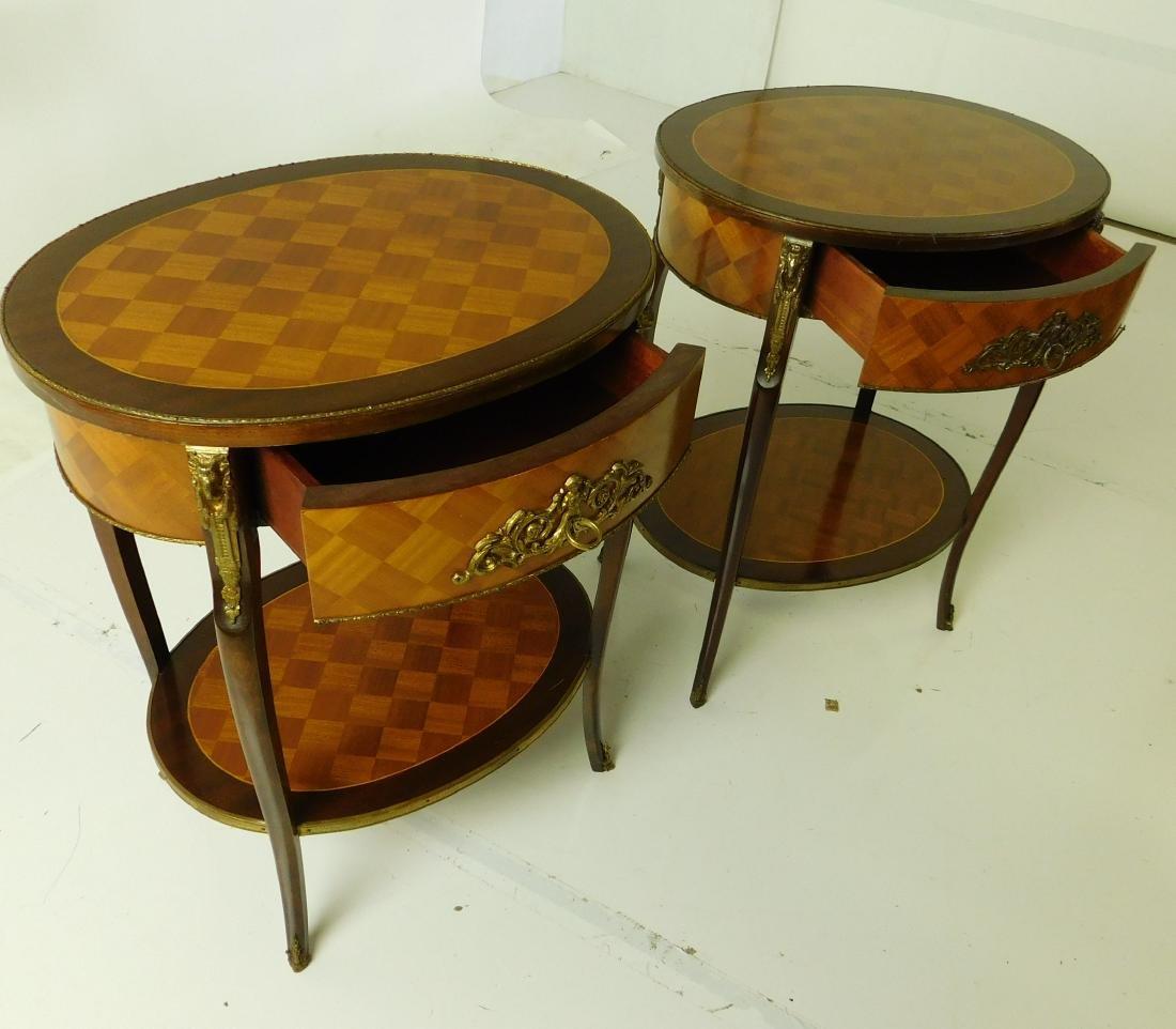 Pair Louis XVI Style Center Tables - 4