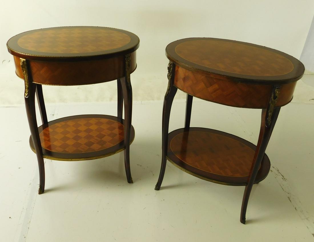Pair Louis XVI Style Center Tables - 7