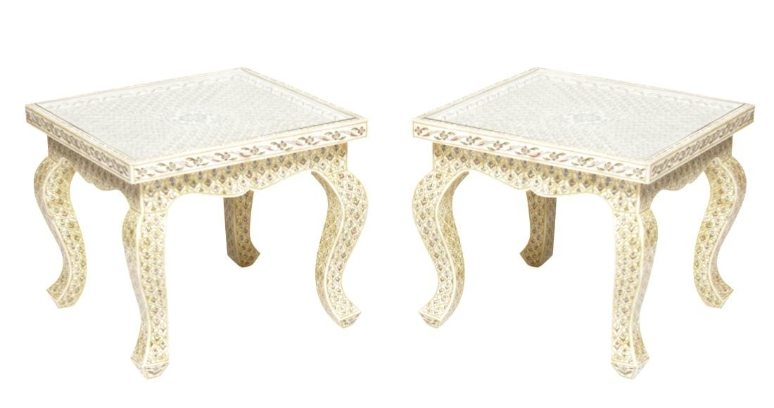 Pair of Bone inlaid Side Stands
