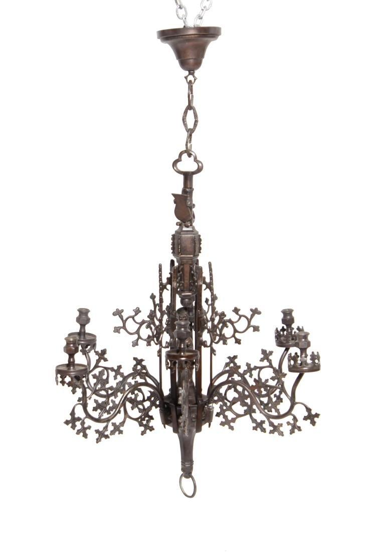 Gothic Bronze Chandelier