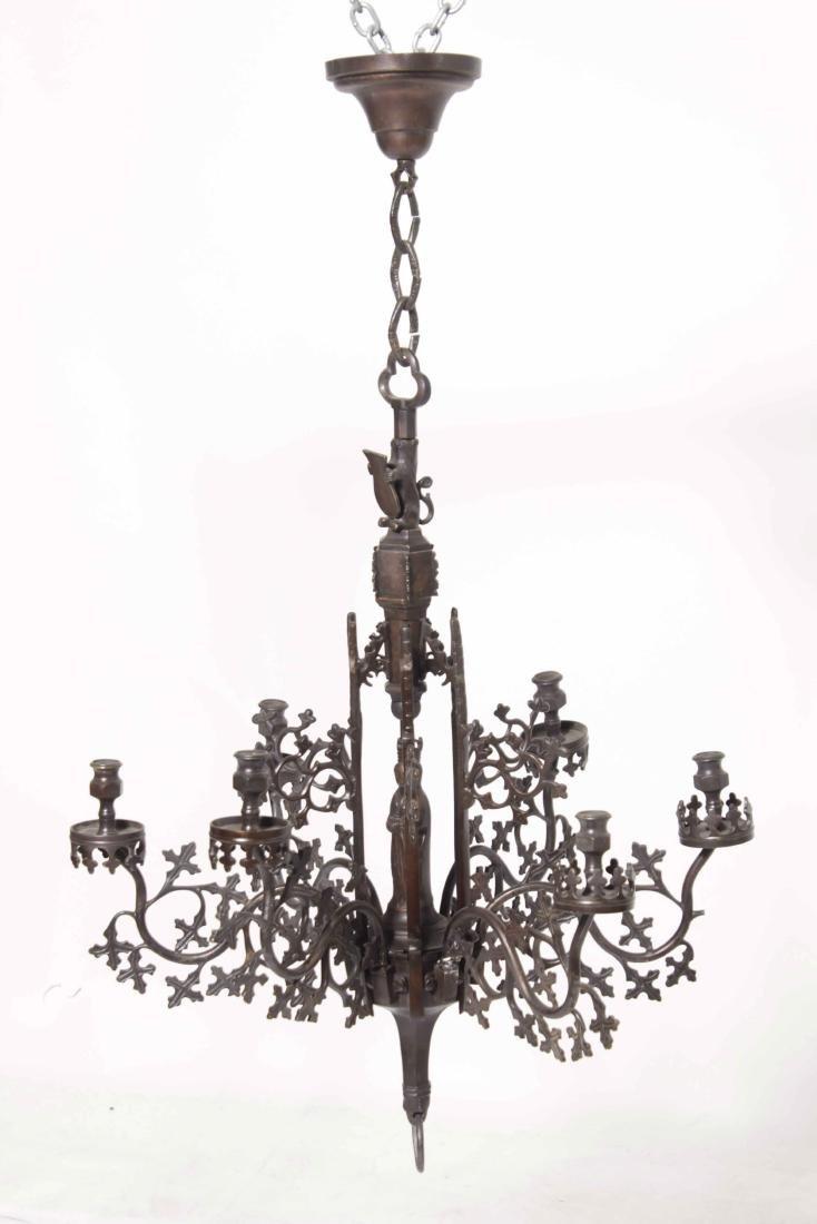 Gothic Bronze Chandelier - 2