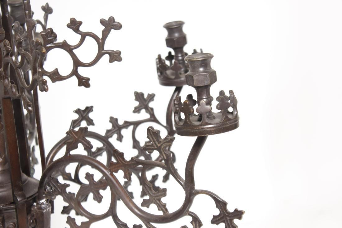 Gothic Bronze Chandelier - 5