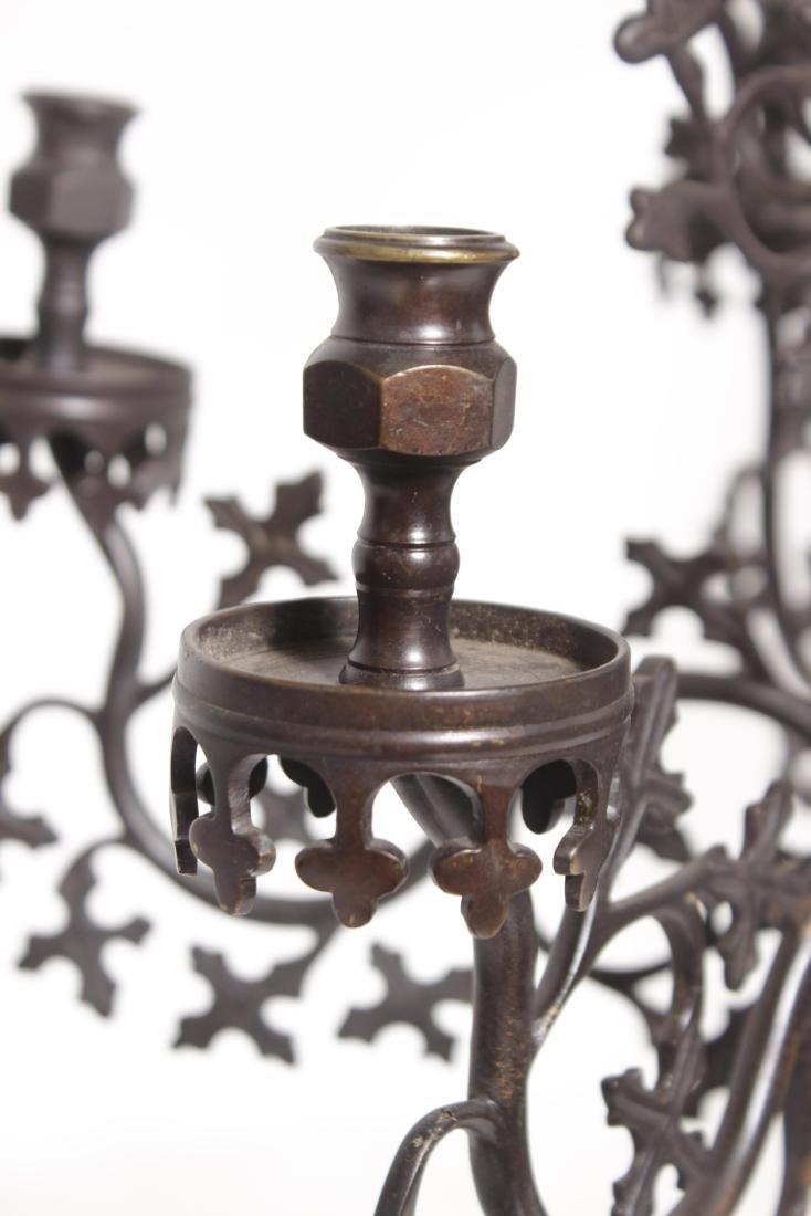 Gothic Bronze Chandelier - 7