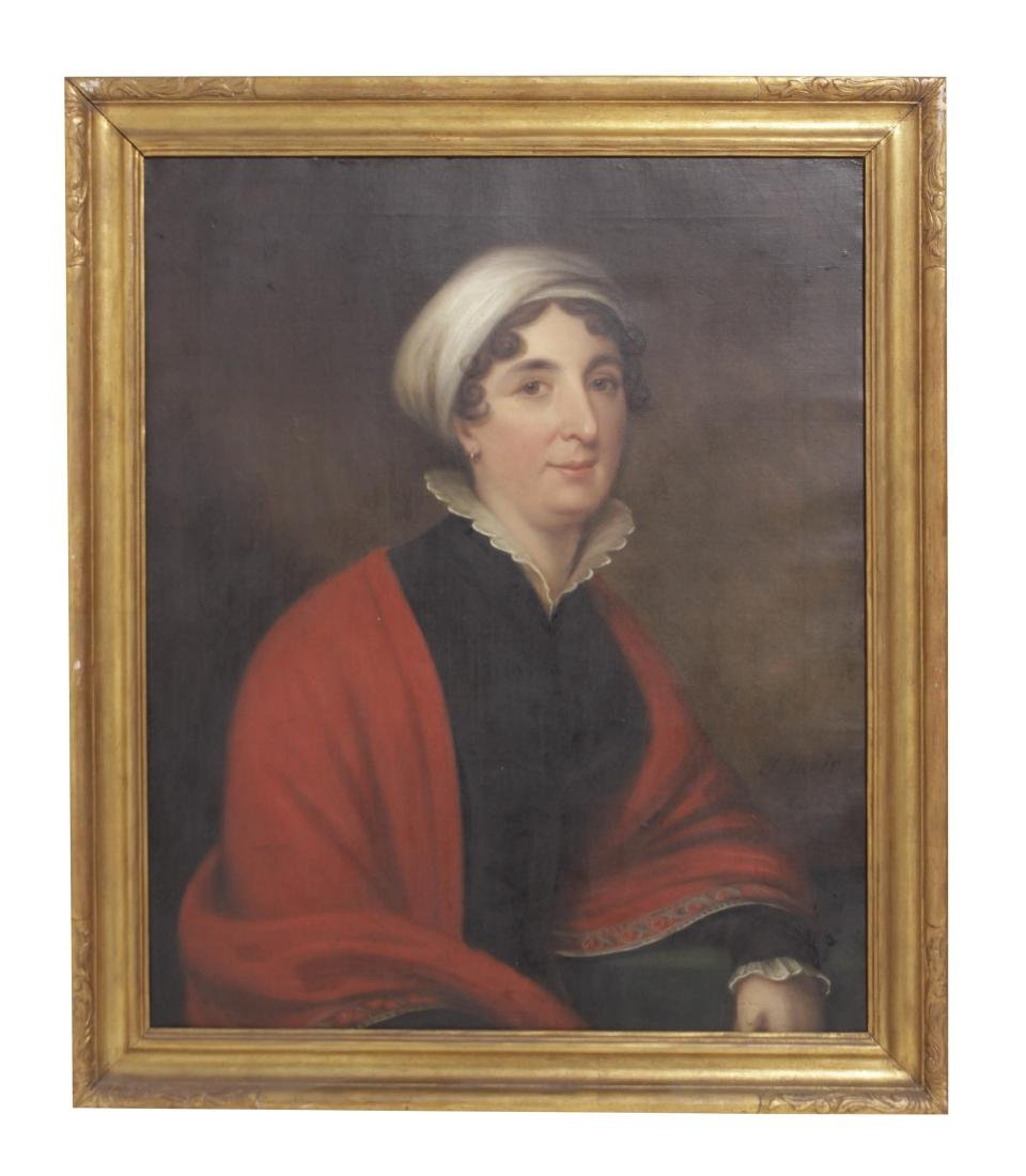 Portrait of Woman in Red Shawl