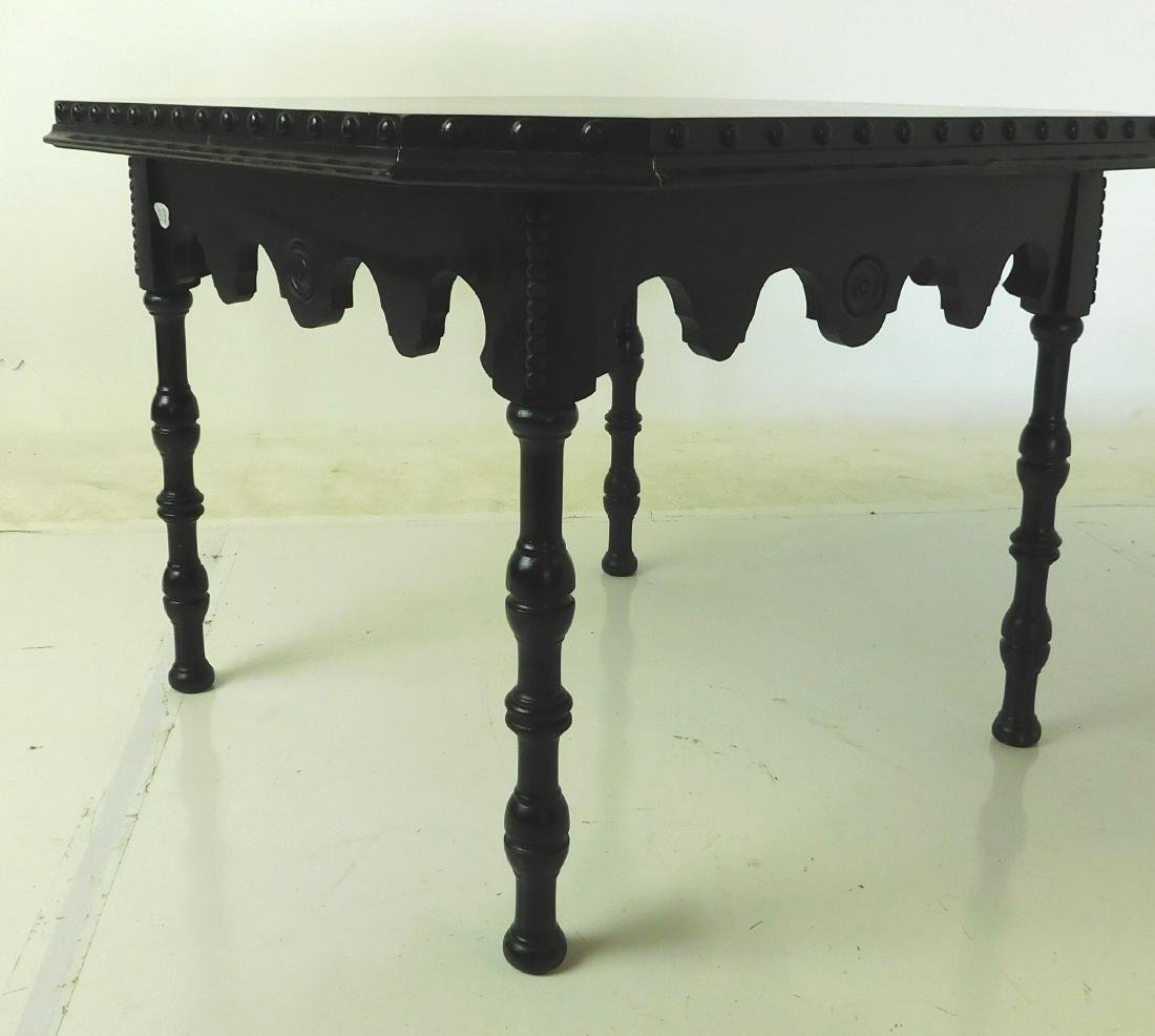 Mahogany and Ebonized Side Table - 2