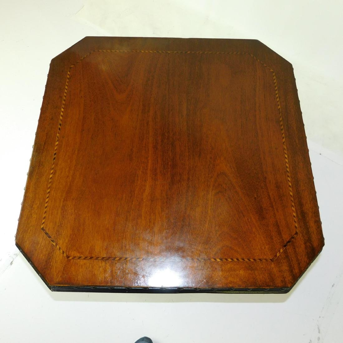 Mahogany and Ebonized Side Table - 3
