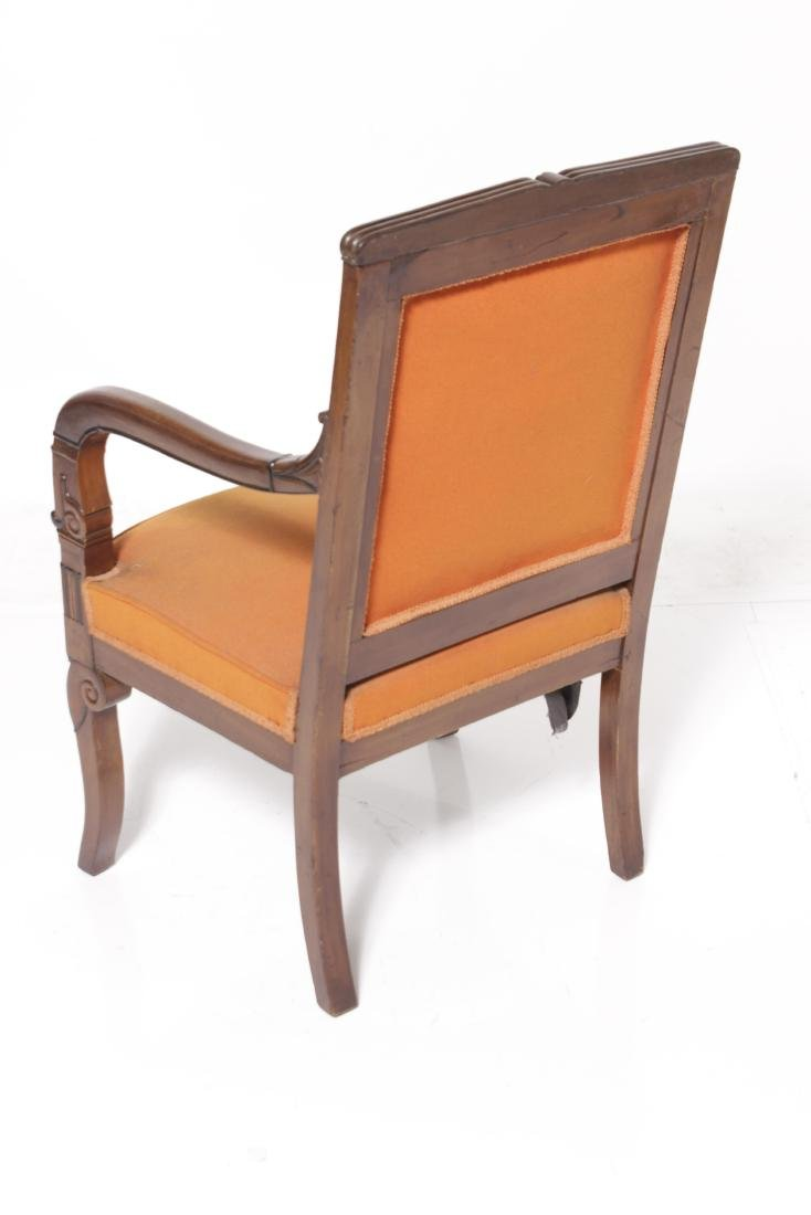French Late Empire Walnut Fauteuil - 6