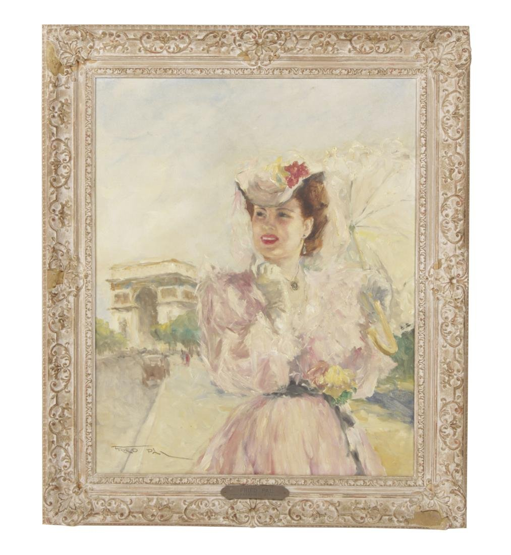 Fried, Pál (1893-1976) Parasol Girl