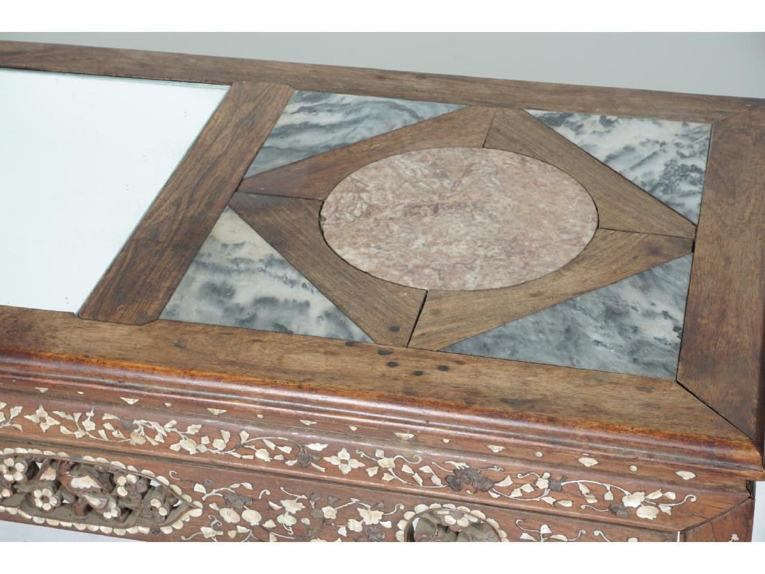 Chinese Carved and Inlaid Low Table - 3