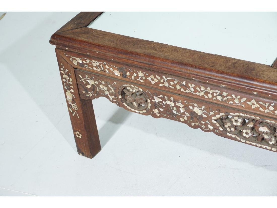 Chinese Carved and Inlaid Low Table - 4