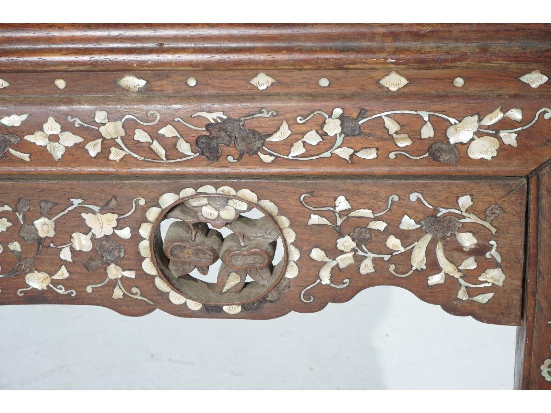 Chinese Carved and Inlaid Low Table - 5