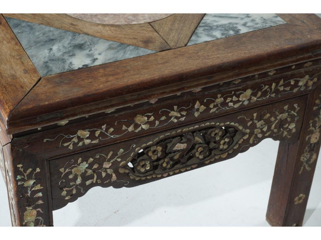 Chinese Carved and Inlaid Low Table - 6