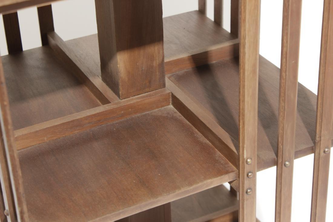 Mahogany Revolving Bookcase - 2