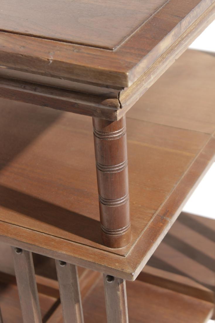 Mahogany Revolving Bookcase - 3