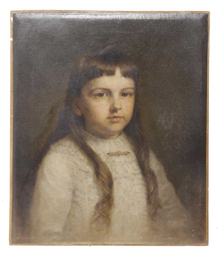 American /  English School Portrait of Girl