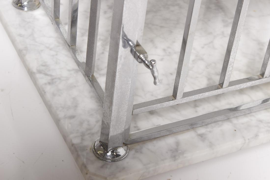 Art Deco Style Chrome & Marble Bathroom Stand - 5