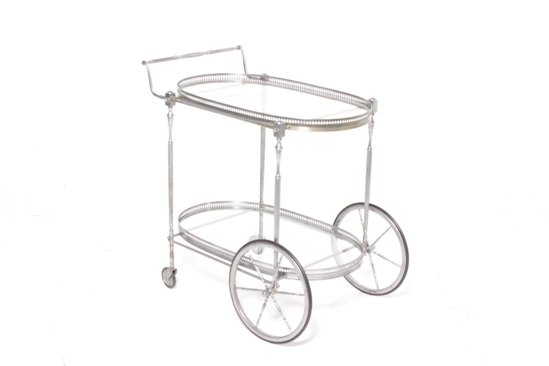 Mid C Steel Polished Bar cart - 6