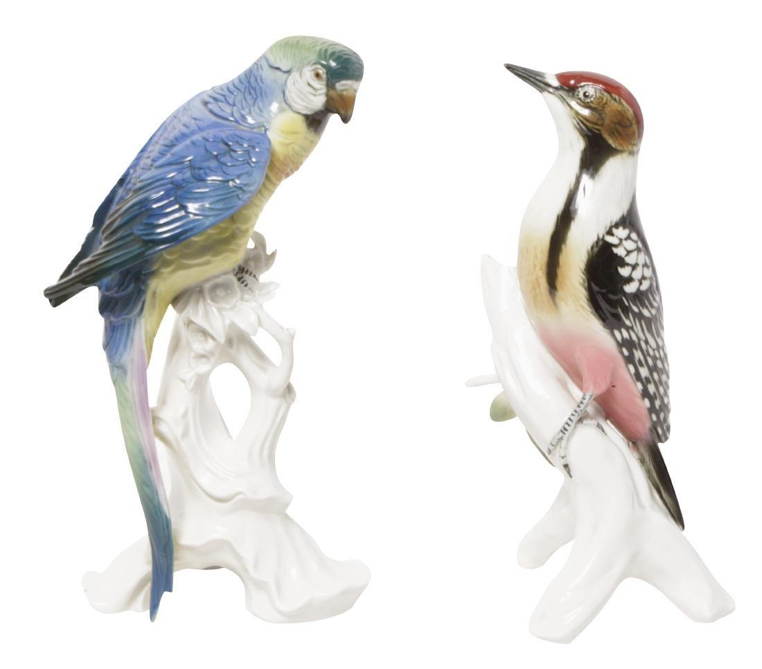 Pair 'Karl Ens' Porcelain Birds
