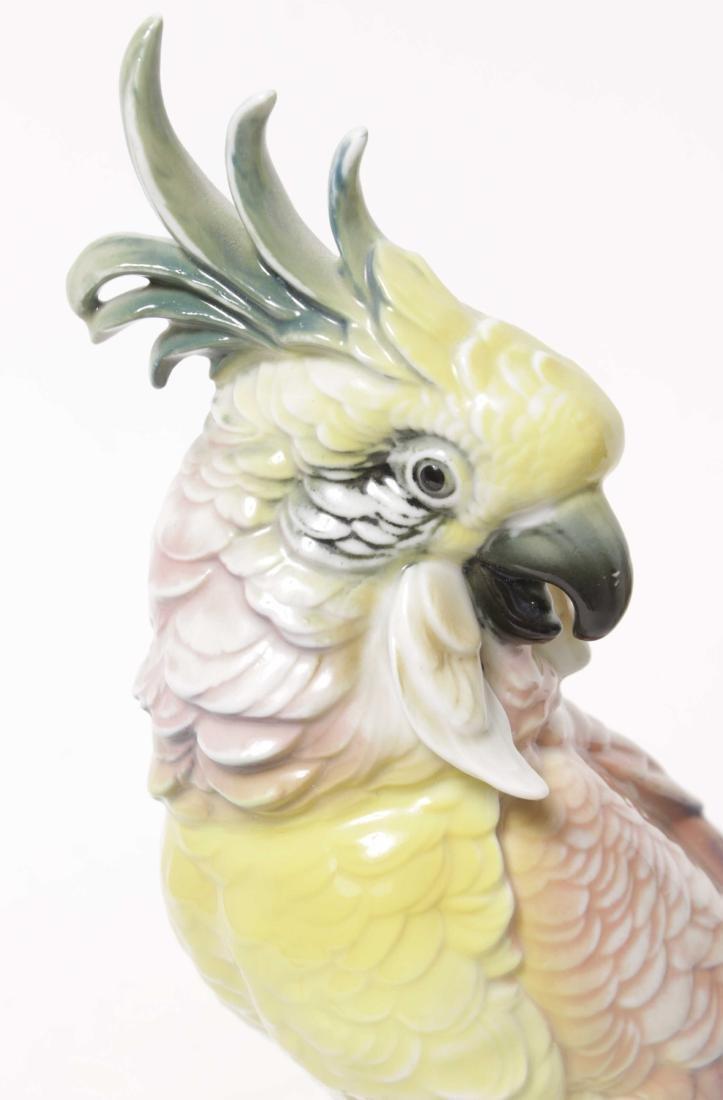 Pair of 'Karl Ens' Porcelain Parrots - 2