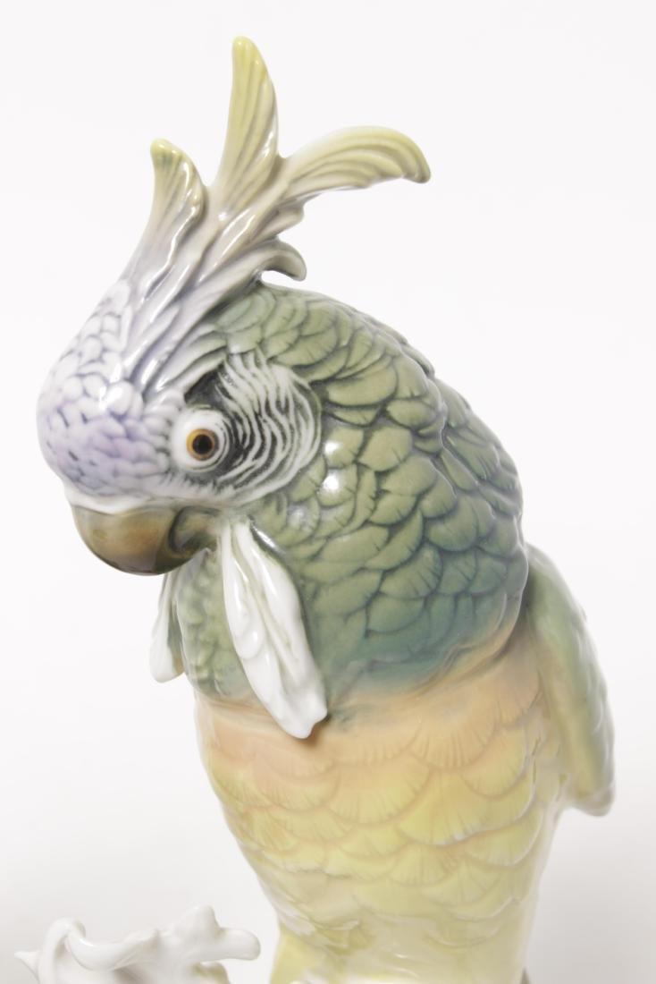 Pair of 'Karl Ens' Porcelain Parrots - 3