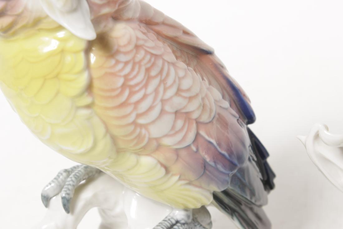 Pair of 'Karl Ens' Porcelain Parrots - 4