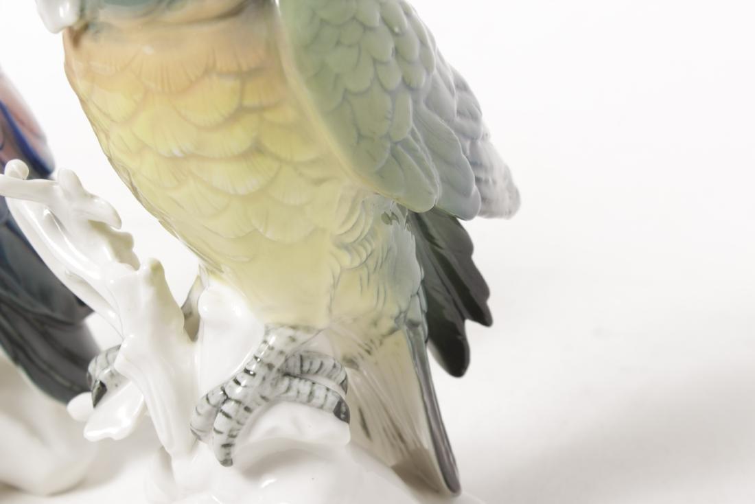 Pair of 'Karl Ens' Porcelain Parrots - 5
