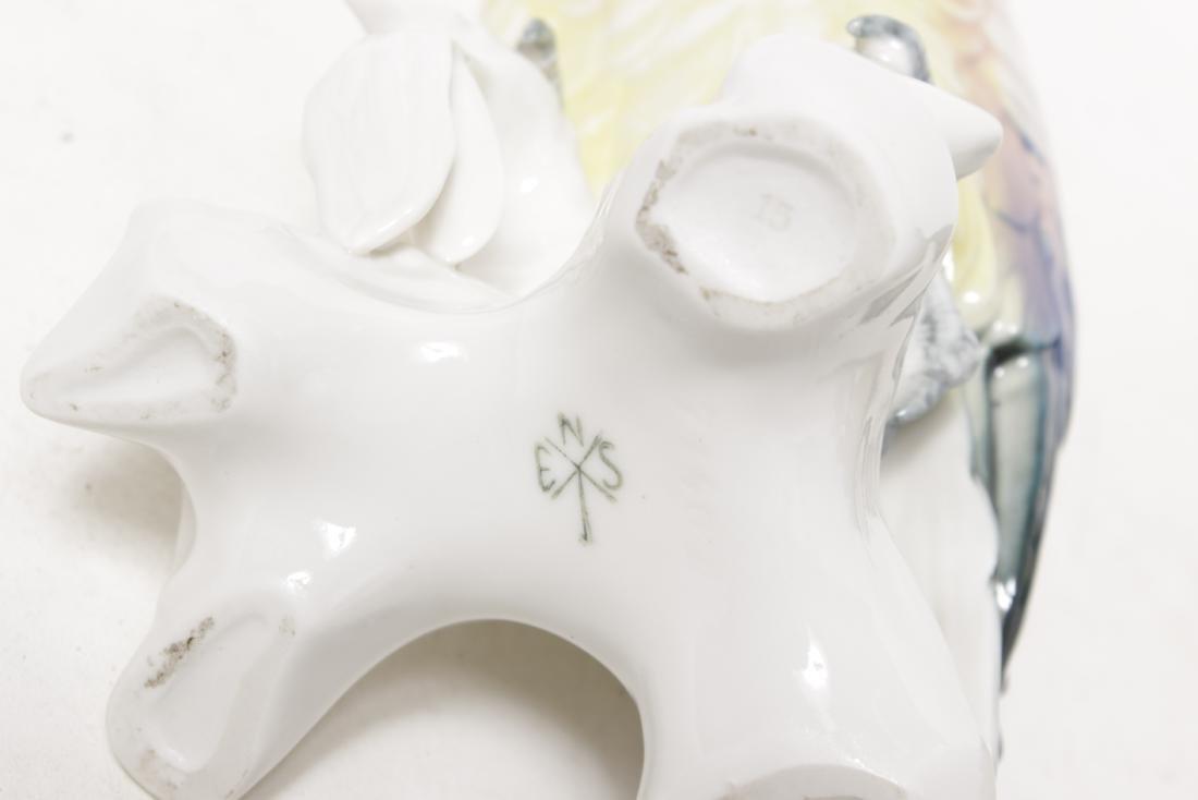 Pair of 'Karl Ens' Porcelain Parrots - 8