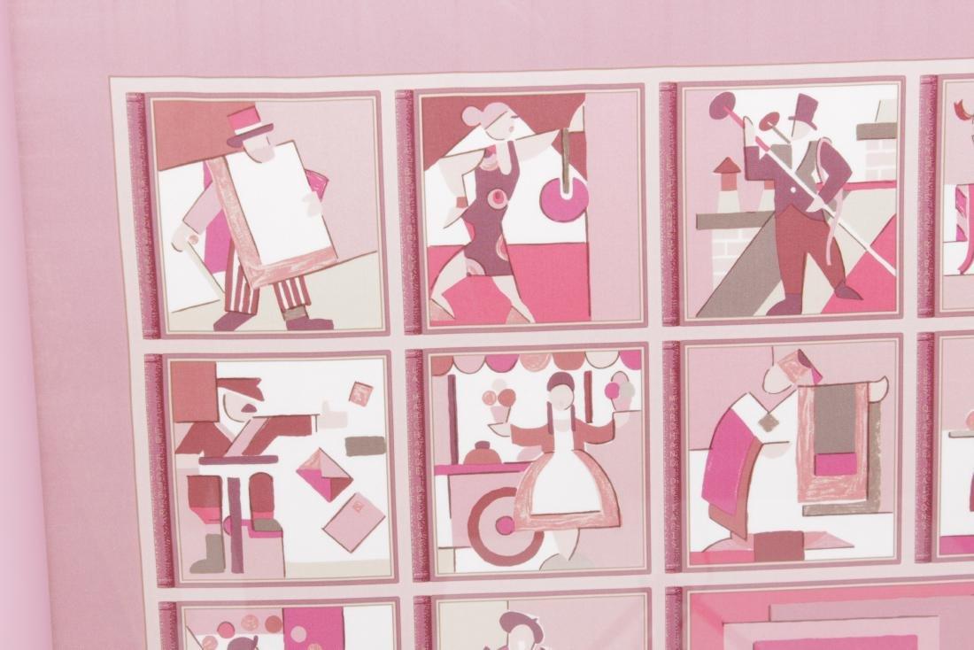 Framed Hermes Scarf 'Les Petit Metiers de Paris' - 3