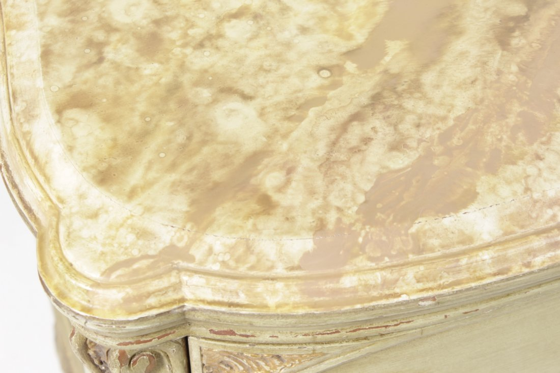 Louis XV Style Provincial Painted Chest - 3