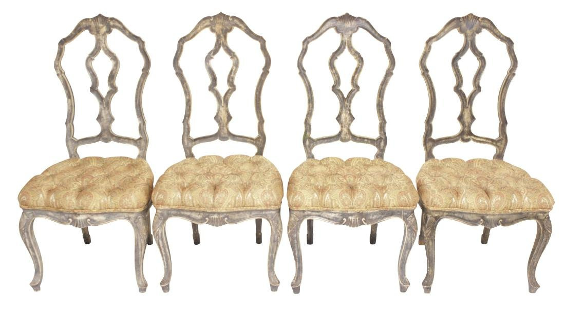 Four Venetian Style Dining Chairs